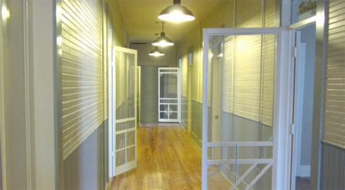 Screen Doors in Hallway
